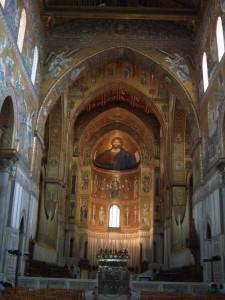モンレアーレ キリストのモザイク画
