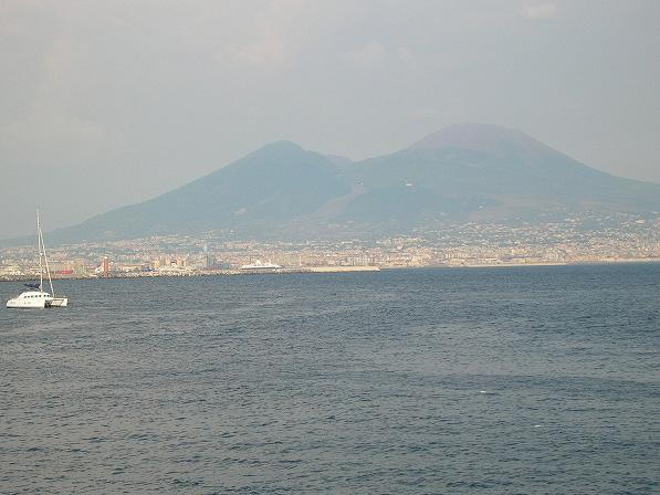 ナポリ・ヴェスヴィオの風景