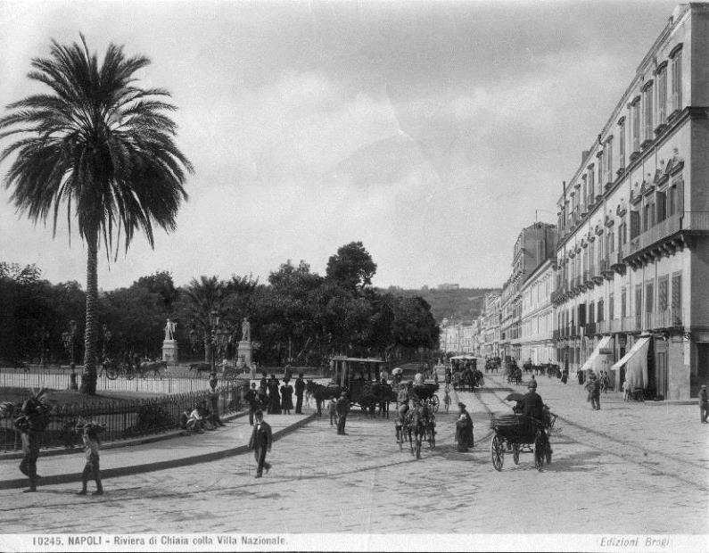Brogi, Carlo (1850-1925) - n. 10245 - Napoli - Riviera di Chiaia colla Villa nazionale