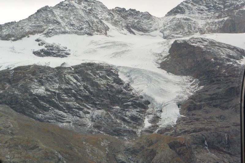 ベルニナ急行 モルテラッチ氷河