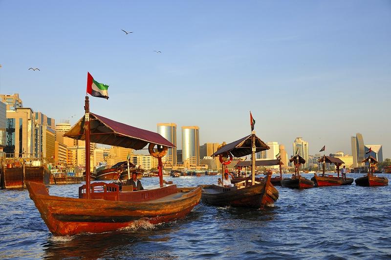 ドバイ 運河の渡し船